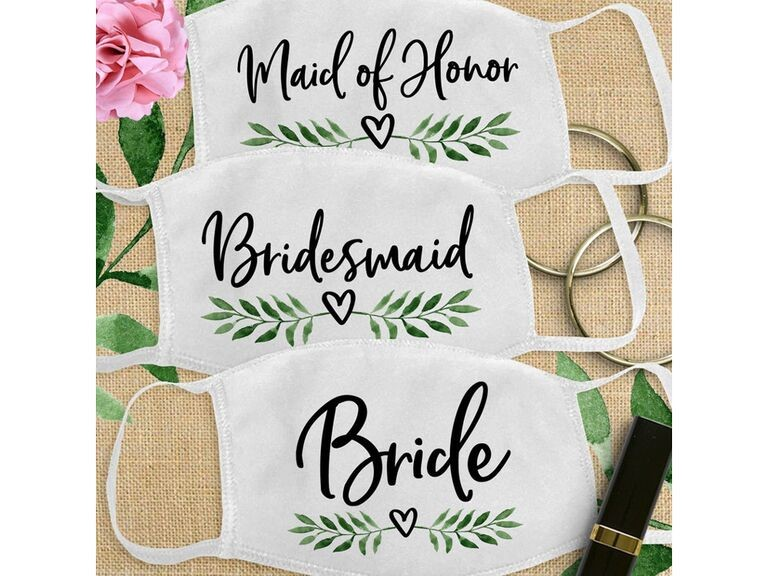 Wedding Mask for Bride and Bridesmaids
